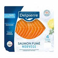 Delpierre saumon fumé Norvège 4 tranches 130g