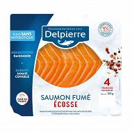 Delpierre saumon fumé Ecosse 120g 4 tranches
