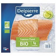 Delpierre saumon fumé bio 4 tranches 110g