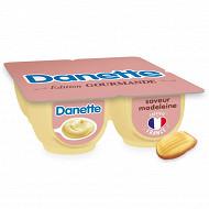 Danette crème dessert saveur madeleine 4x125g