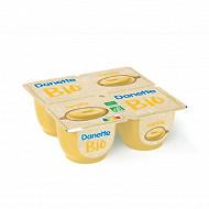Danette crème dessert bio vanille 4x95g