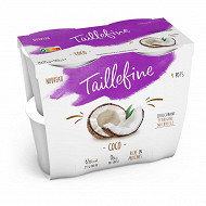 Taillefine 0% stevia fruit noix de coco 4x115g