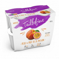 Taillefine 0% stevia fruit passion pêche 4x115g