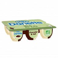 Danone Ptite Danette bio chocolat au lait 6x65g