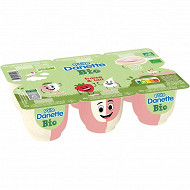 Danone Ptite Danette bio fraise lait 6x65g