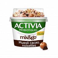 Activia mix & go muesli cacao noisettes 170g