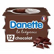 Danette le liégeois chocolat 12x100g