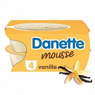 Danette mousse vanille 4x60g