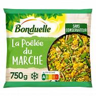 Bonduelle poêlée du marché - dés de brocolis et carottes jaunes, courgettes grillées 750g