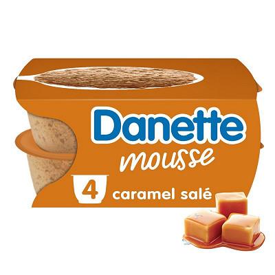 Danone Danette mousse caramel salé 4x60g