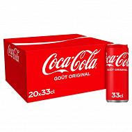 Coca-cola boite 20x33cl sleek