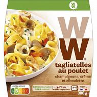 WW tagliatelles poulet champignons, crème et ciboulette 300g