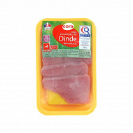 Cora 4 mini escalopes de dinde certifié 200g