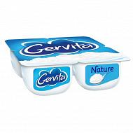 Gervita fromage blanc nature  sous mousse fouettée  à la crème 4 x 100 g