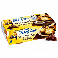 La Laitière profiteroles au chocolat 4x90g