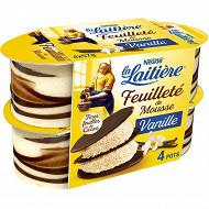La Laitière feuilleté de mousse vanille 4x57g