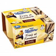 La Laitière frais fondant vanille 4x115g
