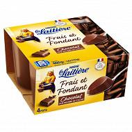 La Laitière frais et fondant chocolat 4x115g