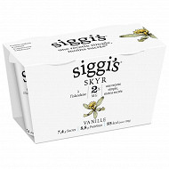 Siggi's yaourt skyr 2%mg vanille 2x140g
