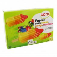 Cora fusée ananas orange framboise 10x60ml 600g