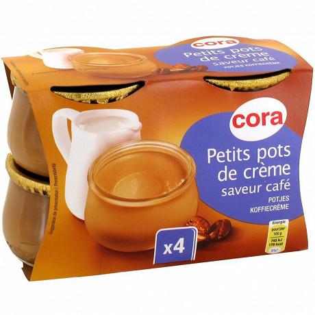 Cora dessert lacté petit pot de crème saveur café 4x100g