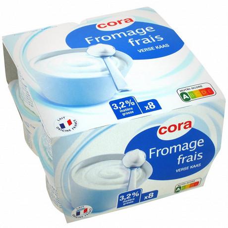 Cora fromage frais 3,2% MG 8 x 100g