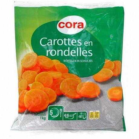 Cora carottes en rondelles 1kg