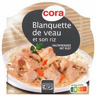 Cora blanquette de veau et son riz  300g
