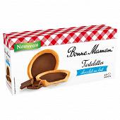 Bonne Maman tartelettes chocolat au lait x9 en sachet individuel 125g
