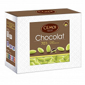 Cémoi dragées vertes chocolat noir 375g