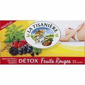 La tisanière détox fruits rouges x25 42g