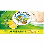 La tisanière après-repas citron x25 37g