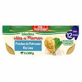 Blédina les idées de maman x 2 bols 200 g poireaux riz colin citronelle dès 12 mois