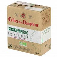 Cotes du rhone cellier des dauphins bio rouge bib 2.25l 13.5%vol