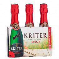Kriter brut vin mousseux de qualité 3 x 20 cl 11.5%vol