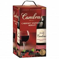 Cambras vin rouge merlot/cabernet/sauvignon 5L 12,5% Vol
