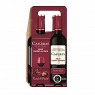 Cambras Merlot Cabernet Sauvignon rouge 4x75cl 12.5%vol