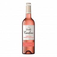 Cambras rosé grenache/cabernet/sauvignon 75cl 12%vol