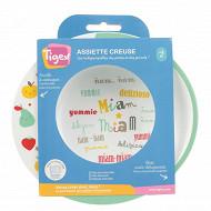 Assiette micro-ondes design base anti dérapante Tigex