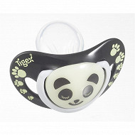 2 sucettes phosphorescentes silicone smart night panda +18 mois Tigex
