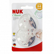 2 Sucettes silicone Taille 0-6m fille ballons Nuk