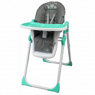 Chaise haute multiposition gris vert Bambisol