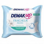 Demak'Up lingettes Fraîcheur peau normale mixte x25