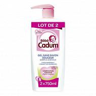 Cadum Bébé shampooing-douche corps et cheveux 2x750ml