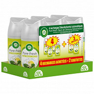 Air Wick freshmatic recharge pure rafraîchissant 4 + 2 offertes