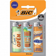 Bic briquets j26 maxi decor multipack de 3