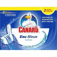 Canard bloc cuvette solide colorant eau bleue - 2 blocs