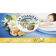 La tisanière nuit calme miel x25 37g