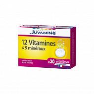 Juvamine new 12 vitamines + 9 minéraux30 comprimés effervescents