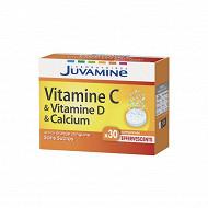 Juvamine vitamines C + calcium + vitamines D 30 comprimés effervescents
